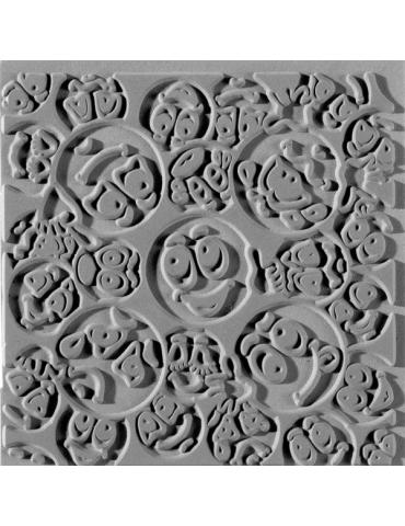 """Tapis de texture EFCO tapis d'empreinte pour pâte """"Smiley"""""""