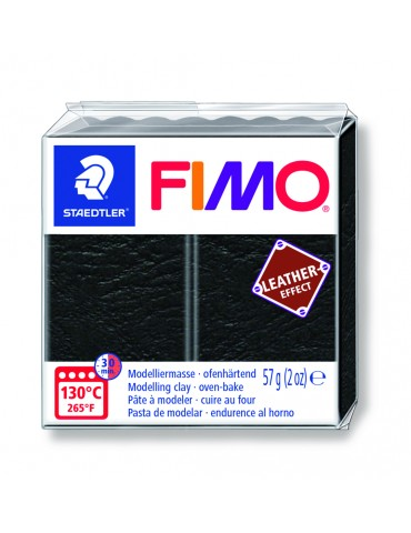 "Fimo Leather-Effect ""NOIR"""