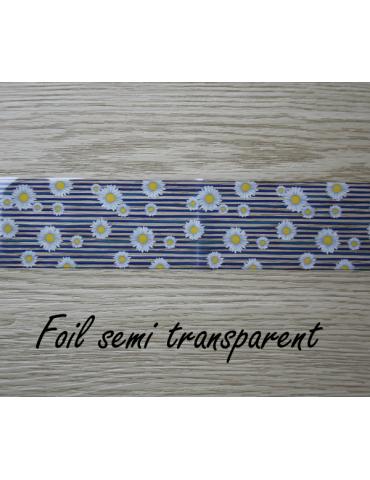 """Foils semi transparent  pour pâte polymère """"Marguerite"""""""